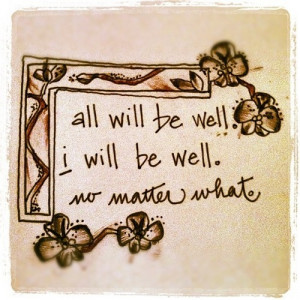 All will be well « Nothing but Quotes