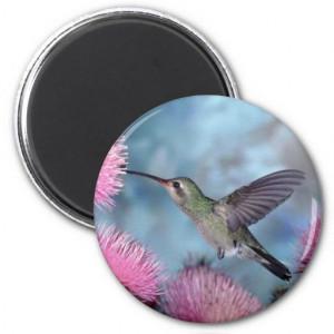 Pretty Humming Birds Round Magnet
