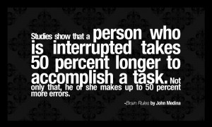 ... task. Not only that, he or she makes up to 50 percent more errors