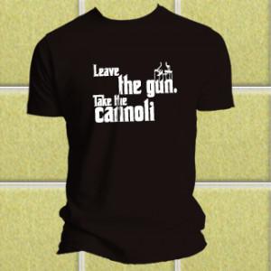 Godfather T-shirt Leave The Gun Take The Cannoli [bw-godfather] - £13 ...
