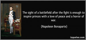 battlefield after the fight is enough to inspire princes with a love ...