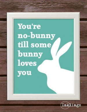 Cute Easter Bunny Poster, Easter Quotes, Hand Painted #2014 #easter # ...
