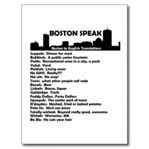 Boston Speak Post Cards