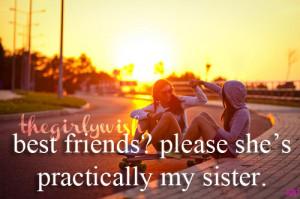 Best Friends = Sisters   via Tumblr