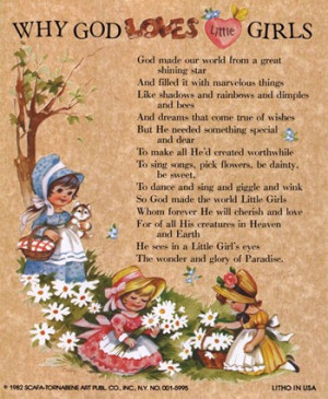 , inspirational quotes, quotations, why god loves little girls ...