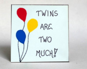Magnet -Twins - quote about fraternal or identical children, double ...