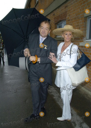 Mel Smith Picture Ascot Berkshire UK Mel Smith and Wife at the Royal
