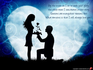 By the moon love quote