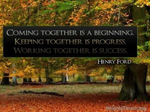 "... together is success."" -Henry Ford inspirational quote desktop"