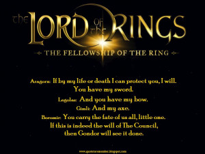 THE LORD OF THE RINGS: THE FELLOWSHIP OF THE RING [2001]