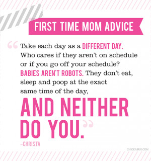 First Time Mom Advice