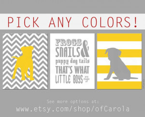 Frogs Snails Puppy Dog Tails Quote Personalized by ofCarola, $24.00