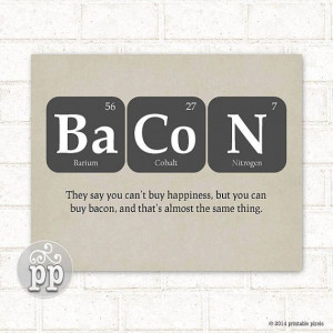 ... , Bacon, Funny Quote, Teacher Art, Science, Nerd, Geekery, Instant