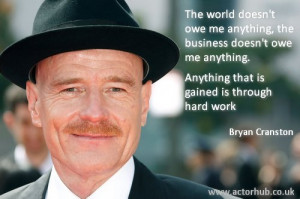 Inspirational and Motivational Quote from Actor Bryan Cranston