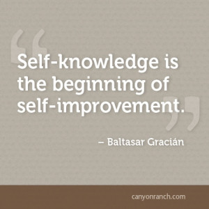 Self-knowledge is the beginning of self-improvement. – Baltasar ...