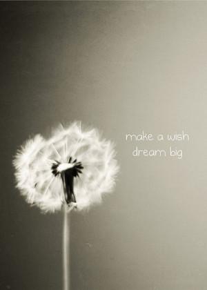 Dandelion Photo: make a wish, dream big - 5x7 Fine Art Photography ...