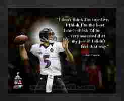 ... Flacco Baltimore Ravens Super Bowl XLVII Pro Quotes Framed 11x14 Photo
