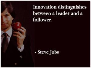 Steve Jobs quote on leadership...