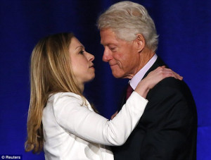 Close bond: Clinton said that his daughter 'made him happier than ...