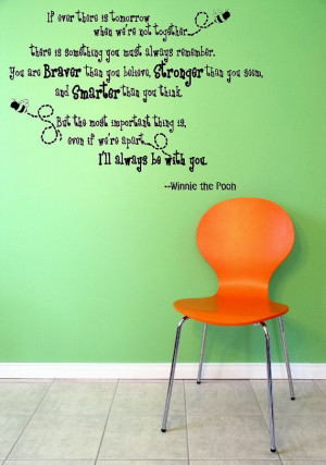 If ever there is a tomorrow Honey Bee Quote Bear Wall Decal