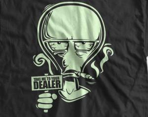 Funny Pot Marijuana T-Shirt Weed T- Shirt Take me to your dealer Gifts ...