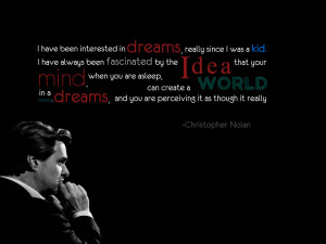 Christopher Nolan Quote Wallpaper