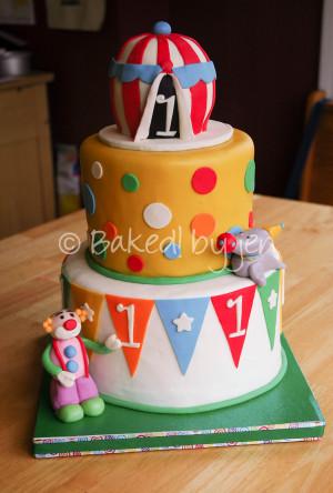 1st birthday circus cakes