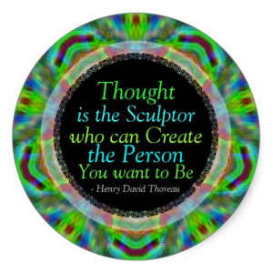 Creative Thoughts Quote Custom Art Sticker by webgrrl
