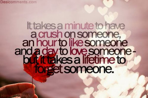 It takes a minute to have a crush on someone