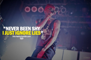 Rapper, tyga, quotes, sayings, i just ignore lies