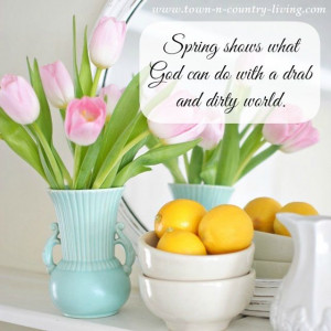 When I think of spring I think of pastels. #springdecor #quote