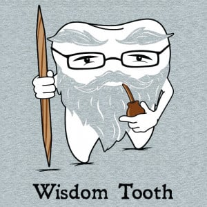 Wisdom Tooth t-shirt design from Headline Shirts