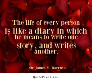 ... person is like a diary in which.. Sir James M. Barrie best life quotes