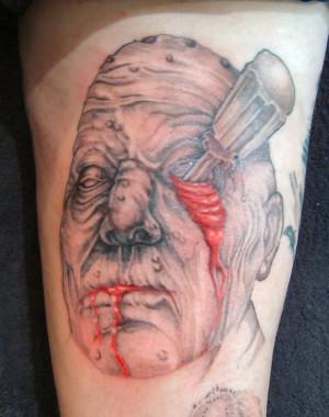 Hapanese Evil Tattoo On Back