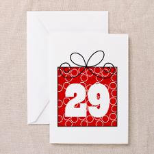 29th Birthday Mod Gift Greeting Card for