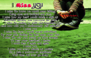 Love Missing Poem I miss you Sad Girl By Funnystatusforfacebook.in