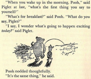 Oh pooh bear... Day 4... Favorite animal character... He's So sweet