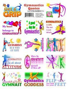 Détails : 14 Gymnastics Quotes Stickers FUN & MOTIVATIONAL