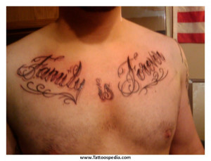 Chest Tattoos For Men Quotes 2