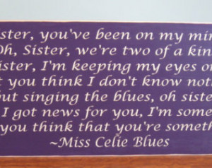 Wooden sign - The Color Purple quote - wall hanging - home decor ...
