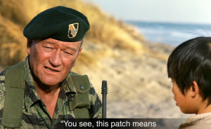John Wayne talk about his patch
