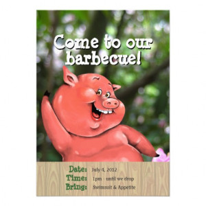 Bbq Barbeque Party Invitations