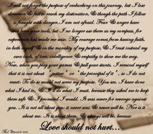 ... should not hurt! A Poem about Protecting My Children from Child Abuse