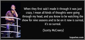 More Scotty McCreery Quotes