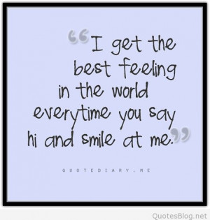 Best feeling in the world tumblr quote