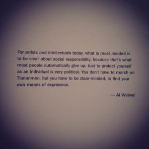 Ai Wei Wei #aiweiwei #quotes