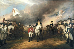 ... 1781 - surrender of Charles Cornwallis - painted by John Trumbull 1797