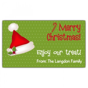 Little Red Santa Hat Gift Tags