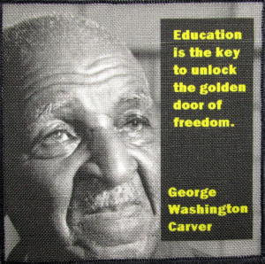 ... Sew On Patch - George Washington Carver Quote - He changed the world