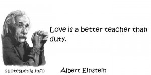 Albert Einstein Love Quotes Albert Einstein Quotes About